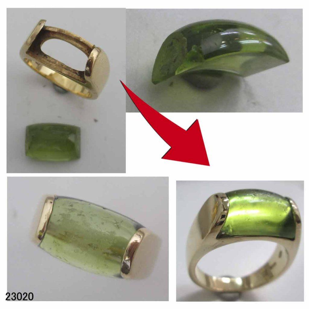 23020ブルガリペリドット指輪修理