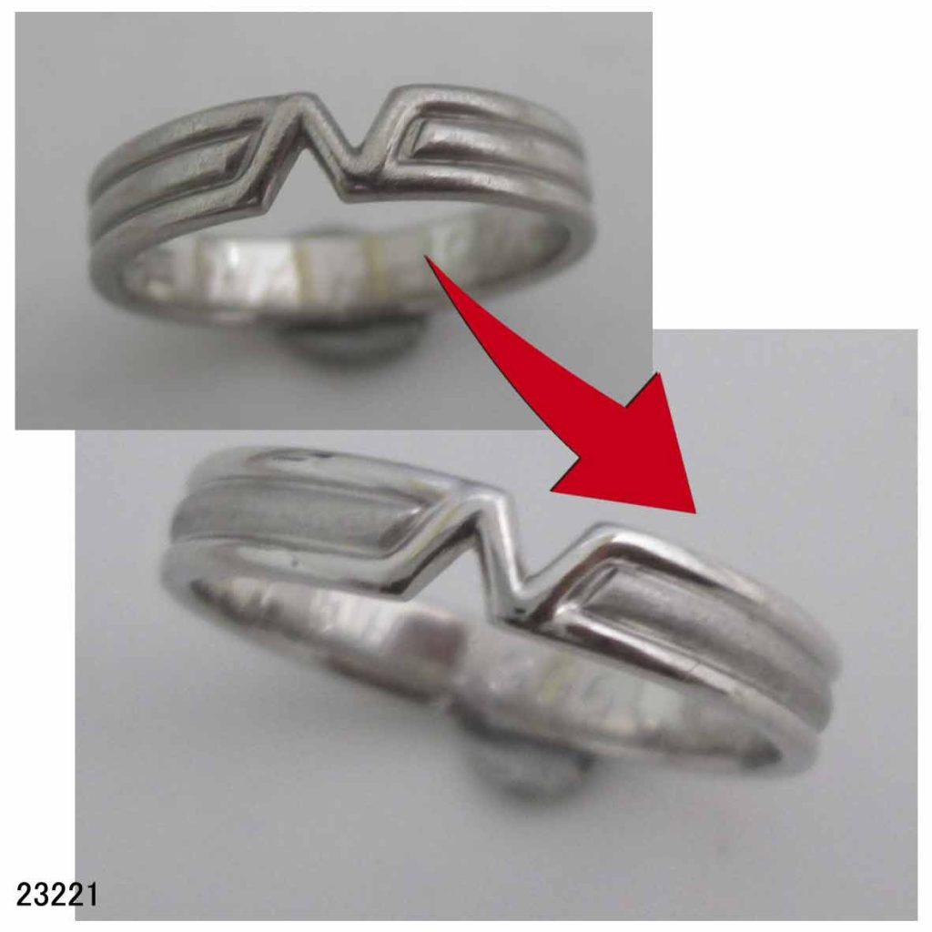 23221Pt1000結婚指輪サイズ直し