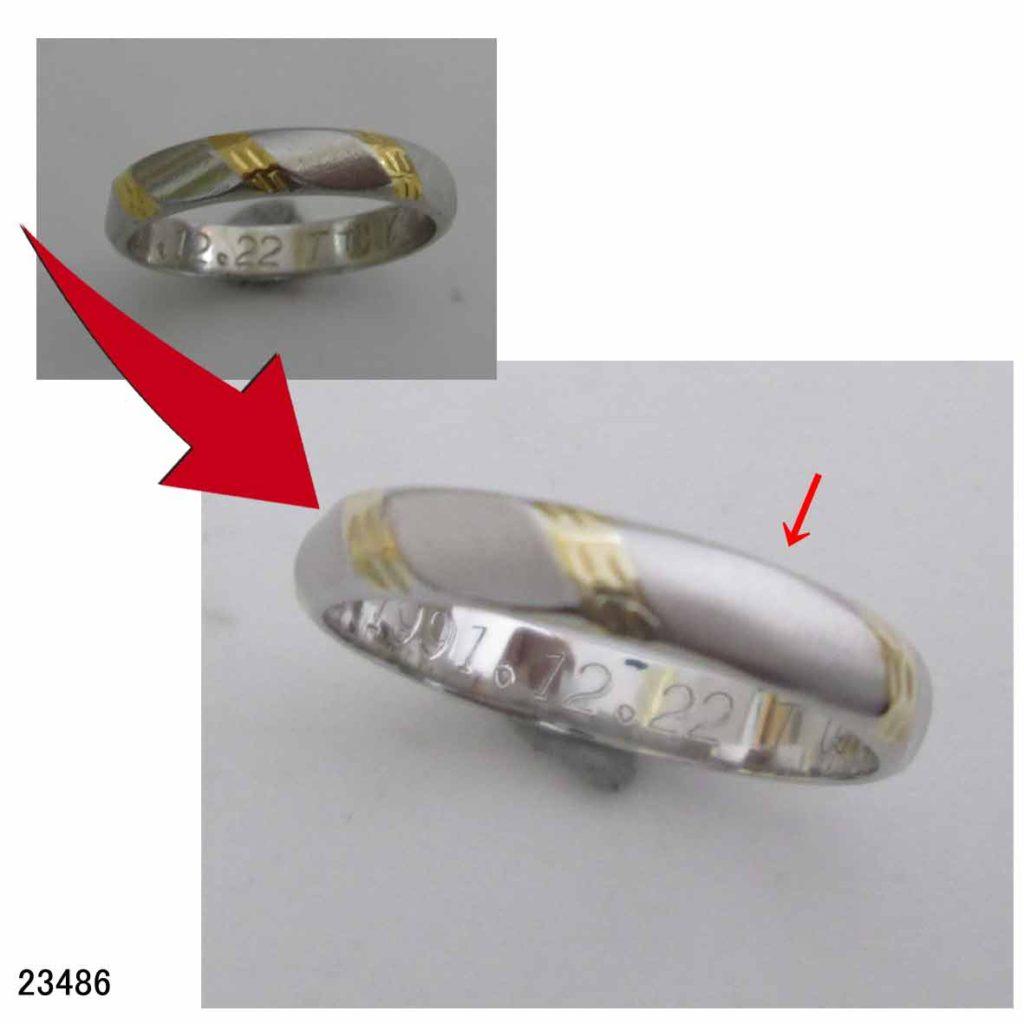 23486結婚指輪サイズ直し