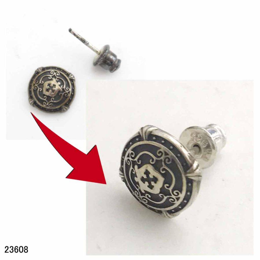 23608シルバーピアス修理